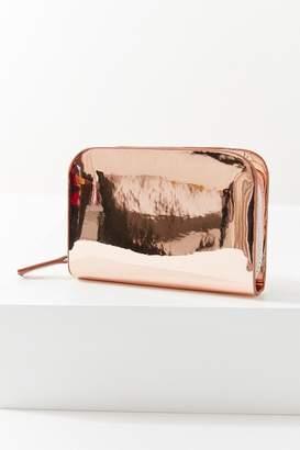 Urban Outfitters Recessed Metallic Zip Wallet