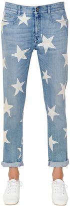 Skinny Boyfriend Stars Print Denim Jeans $425 thestylecure.com
