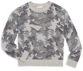 Design History Girl's Camo Sweater