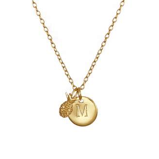 Lee Renee Pineapple & Initial Necklace