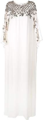 Marchesa crystal embroidered kaftan gown
