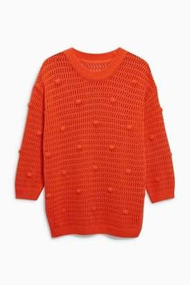 Next Womens White Bobble Sweater