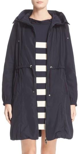 MonclerWomen's Moncler Tuile Water Resistant Long Raincoat