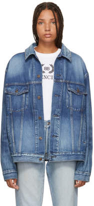 Balenciaga Blue Like A Man Denim Jacket