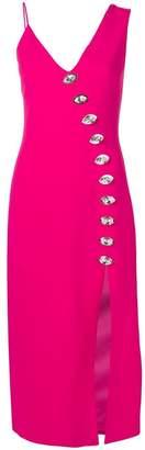 David Koma oversized crystal embellishments dress
