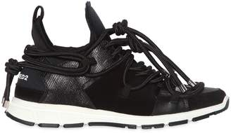 DSQUARED2 Bungy Jump Neoprene & Leather Sneakers