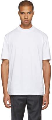 Lanvin White High Collar T-Shirt