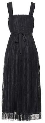 Bottega Veneta Lace-trimmed silk-blend dress