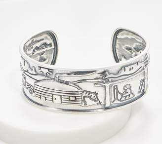 Fritz Casuse Sterling Silver Storytelling Cuff