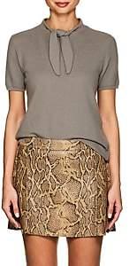 Giorgio Armani Women's Wool-Blend Tieneck Sweater - Gray