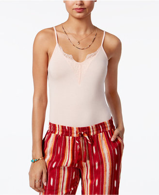 American Rag Lace-Trim Bodysuit, Created for Macy's $29.50 thestylecure.com