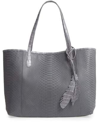 Nancy Gonzalez Medium Erica Genuine Python & Crocodile Tote