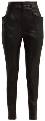 Isabel Marant Modena Skinny Leather Trousers - Womens - Black