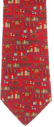 Salvatore Ferragamo Town Print Silk Tie