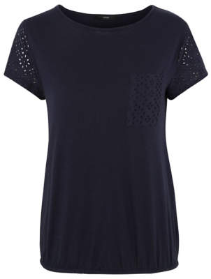 George Broderie Anglaise Bubble Hem Top