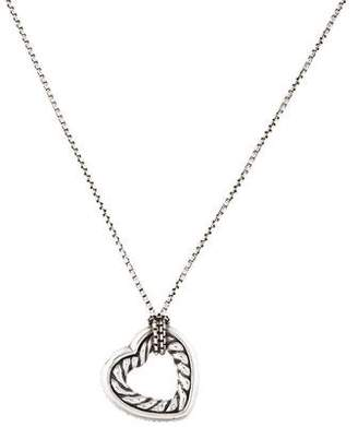 David Yurman Cable Collectibles Small Heart Pendant Necklace