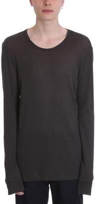 Maison Margiela Ribbed Gray Cotton T-shirt