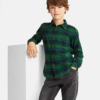 Uniqlo Boy's Flannel Checked Long-sleeve Shirt