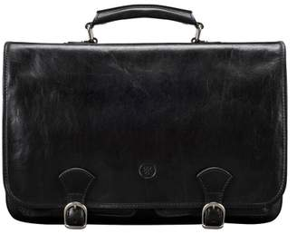 Maxwell Scott Bags Finely Crafted Men S Leather Satchel Bag In Black