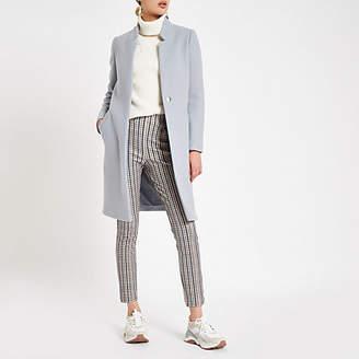River Island Light grey wool blend longline coat