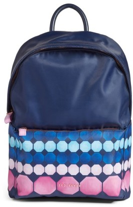Ted Baker London Marina Mosaic Backpack - Blue $159 thestylecure.com