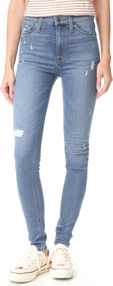 Hudson Barbara High Waisted Skinny Jeans $215 thestylecure.com