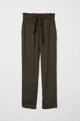 H&M Paper-bag Pants - Black - Women
