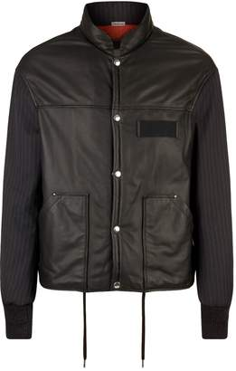 Lanvin Leather Varsity Jacket