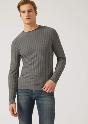 Emporio Armani Crew-Neck Cable-Stitch Sweater