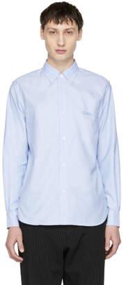 Comme des Garcons Homme Blue Logo Button-Down Shirt