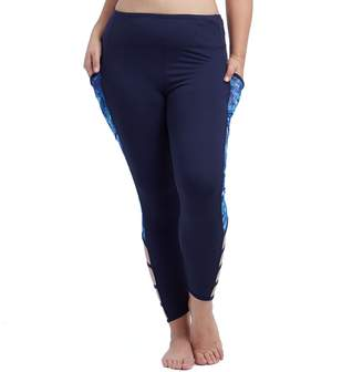 Plus Size Balance Collection Coralee Strappy Ankle Leggings