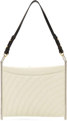 Chloé White Quilted Roy Clutch Bag