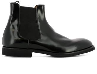 Premiata Black Leather Ankle Boots