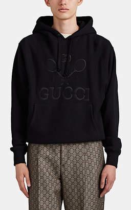 Gucci Men's Interlocking G Cotton Tennis Hoodie - Black