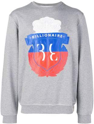 Billionaire printed logo sweater