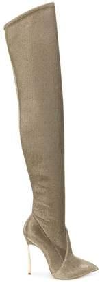 Casadei metallic stiletto boots