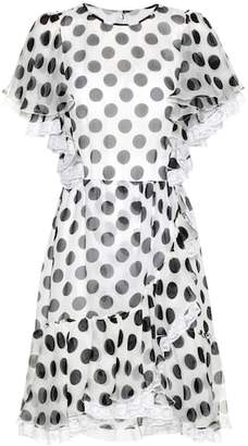 Dolce & Gabbana Polka-dotted silk dress