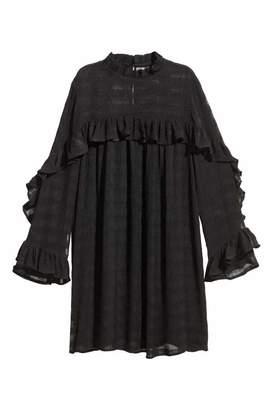 H&M Textured-weave Dress - Black - Women