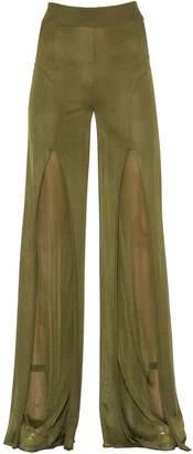 Balmain High Waisted Flared Fluid Knit Pants