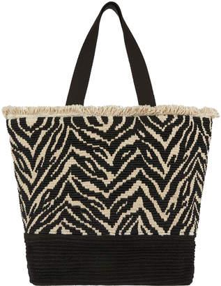 f335ed86bda Accessorize Zahara Zebra Tote Bag