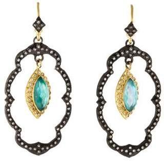 Armenta Triplet Old World Lotus Earrings
