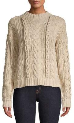 Vero Moda Cable-Knit Mockneck Sweater