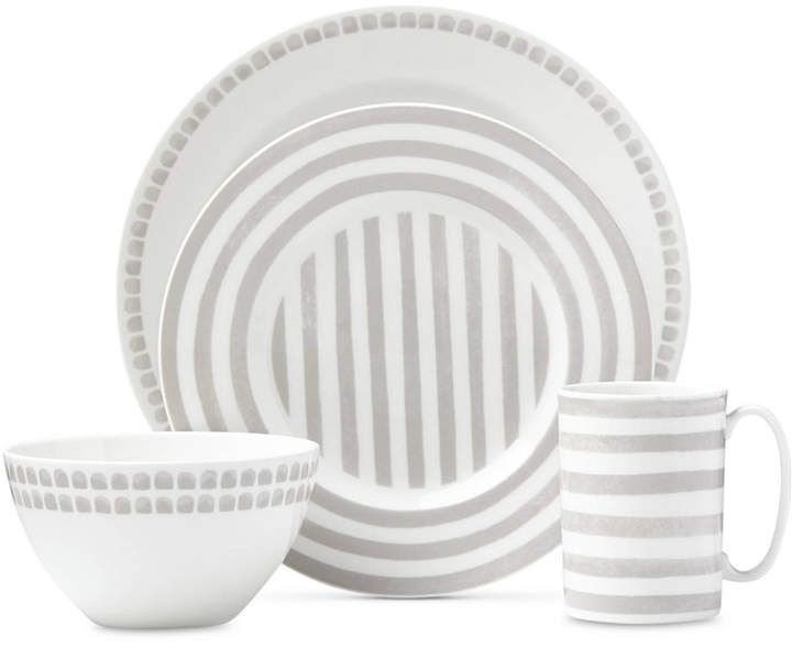 kate spade new york Charlotte Street North Grey Collection 4-Piece Place Setting
