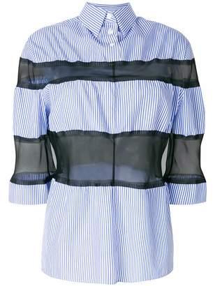 Maison Margiela organza insert striped shirt