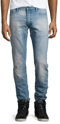 PRPS Barracuda Slim-Fit Denim Jeans, Light Blue $250 thestylecure.com
