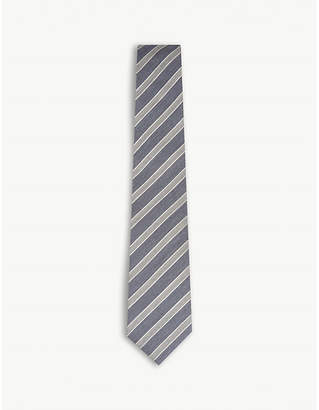 Canali Diagonal stripede woven silk tie