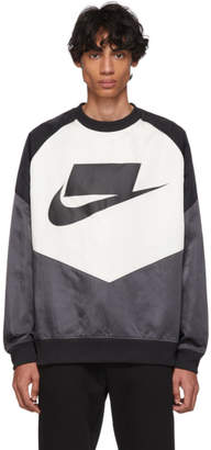 Nike Black and Off-White NSW Windrunner Sweatshirt