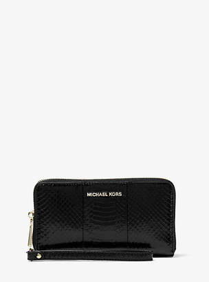 Michael Kors Snakeskin Smartphone Wristlet