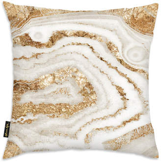 Oliver Gal Gold Agate Decorative Pillow By The Artist Co.