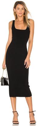 Autumn Cashmere Midi Square Neck Dress $275 thestylecure.com